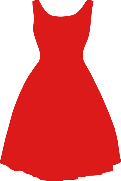Dress Outline Coloring | Little Black Dress clip art ...