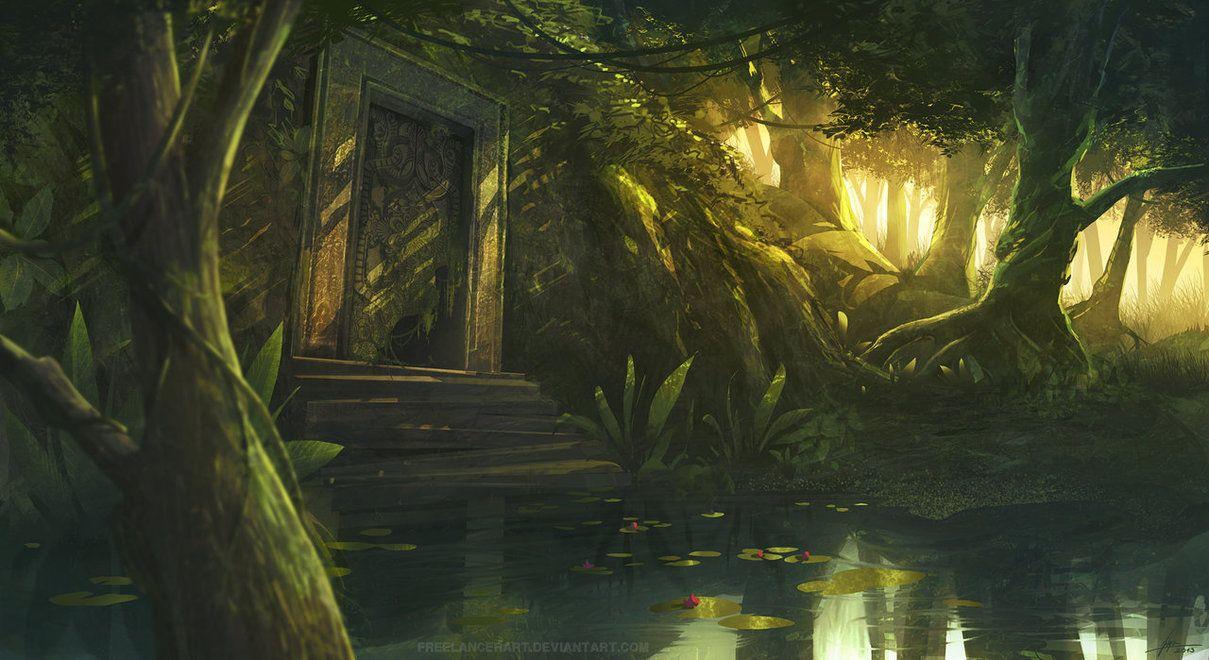 hidden temple by freelancerart on deviantART