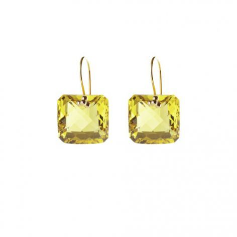 Nikki Baker Yellow Quartz Earrings From Boticca 193