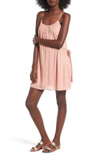 58ee3ae7481 Lush Lush Lace Trim Gauze Dress available at  Nordstrom