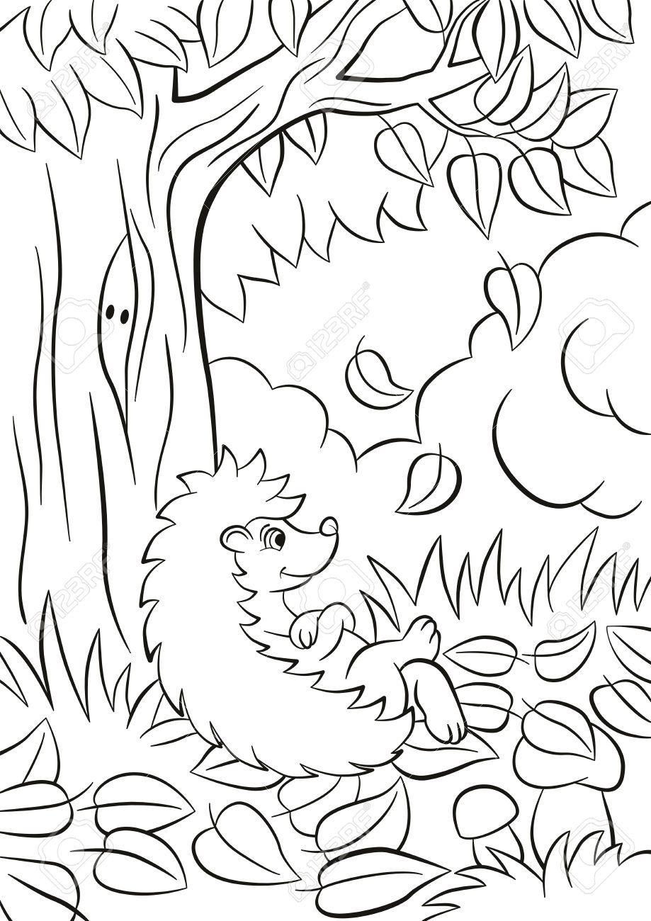 Bildergebnis für ježek z listí pinterest | Coloring Printables ...