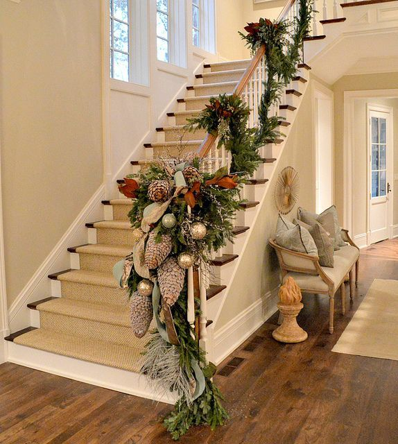 Decorate The Stairs For Christmas: Stair Hall By Things That Inspire
