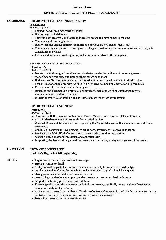 23 Civil Engineer Resume Examples in 2020 Civil engineer