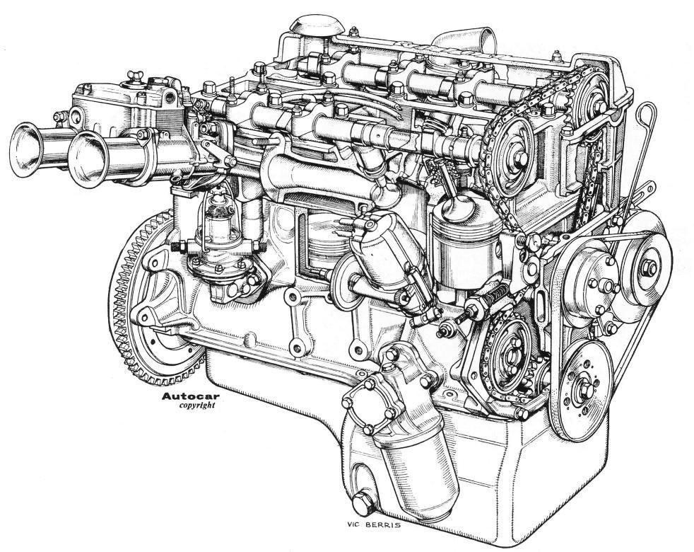 10 1 Twincam Engine Cutaway Autocar 62