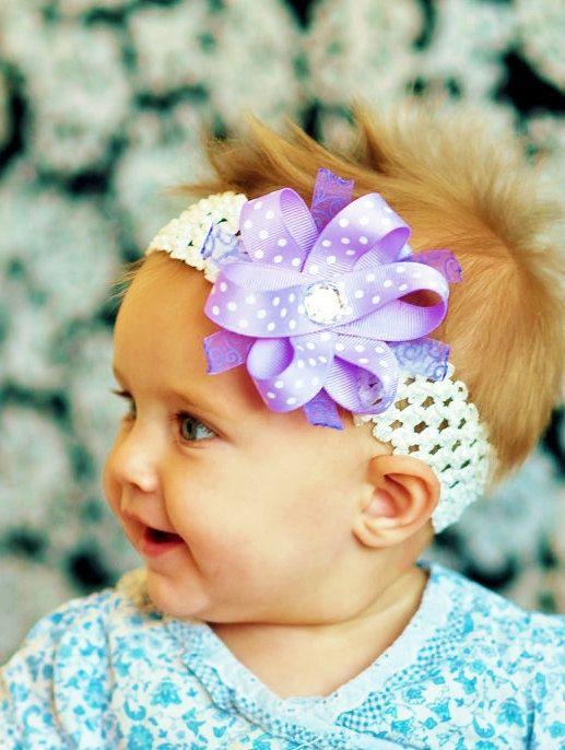 Headband Bows Baby Girl Headband Bows Toddler Hair Bow Clip Hair Bow Clips Baby Baby Bow on Headband-  Headband for Baby Girls