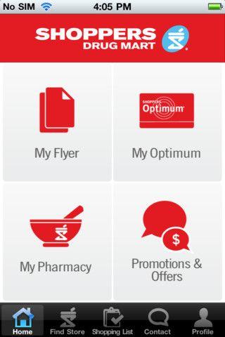 Shoppers Drug Mart app  Includes flyer, Loyalty program