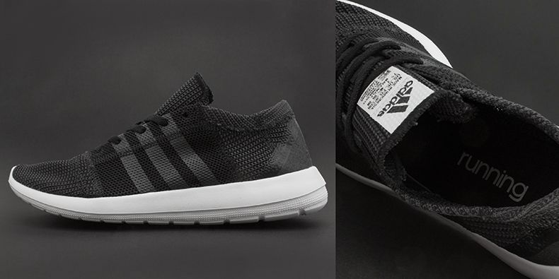 new product 1fefa 58cbc black and white adidas element refine tricot trainers