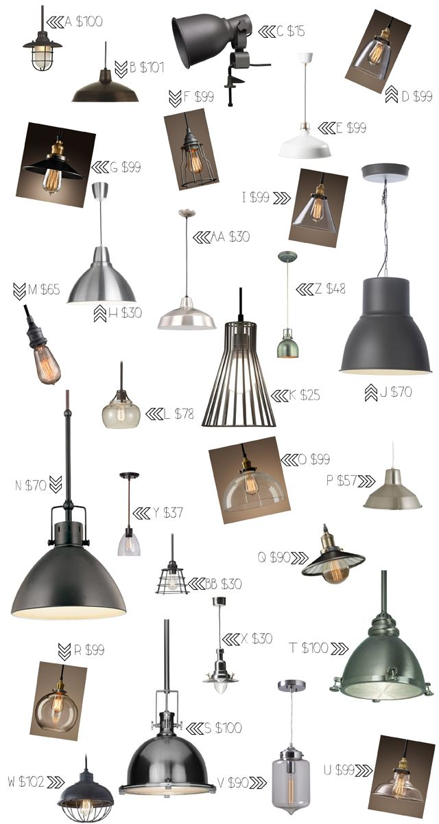 Guide for Industrial Lighting Under $100  sc 1 st  Pinterest & Guide for Industrial Lighting Under $100 | Industrial lighting ...