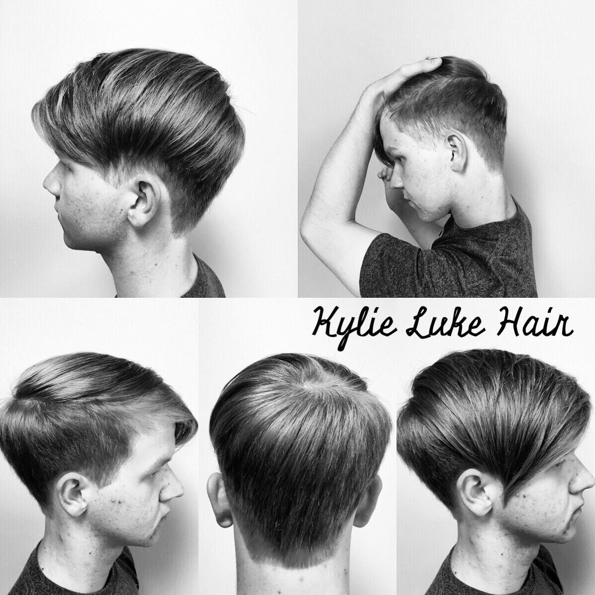 Men s asymmetrical undercut hair Pinterest