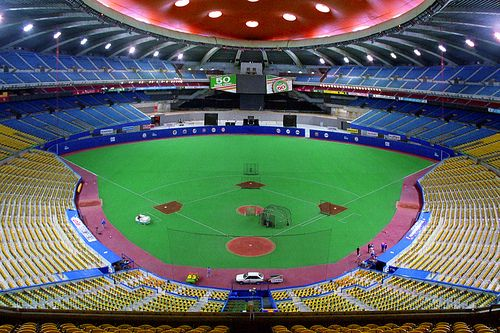 The Ballpark Was Almost This Empty The Day I Went To Watch The Expos Play Olympic Stadium Montreal Baseball Stadiums Parks Soccer Stadium