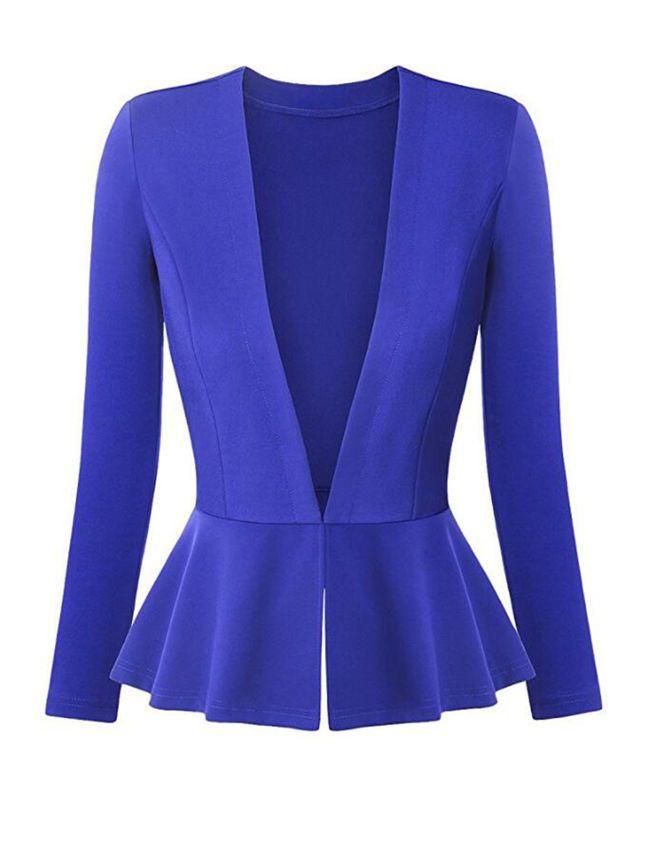 Peplum Solid Plus Size Blazer | vestidos | Pinterest | Moda para ...