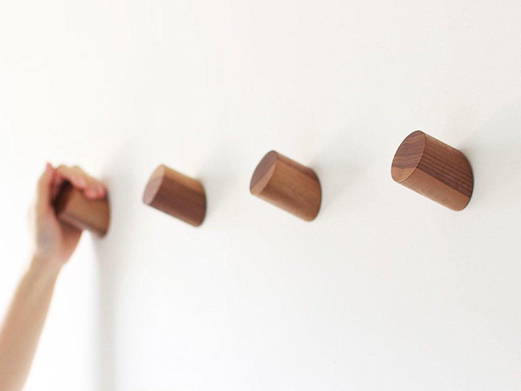 Piece Parcel Minimalist Wood Wall Hook Wooden Wall Hooks