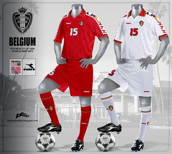 19884d92043b1 Belgica - world cup 94 Camisas De Futebol