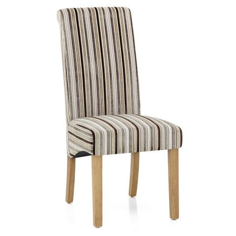 Roma Dining Chair Oak Stripe