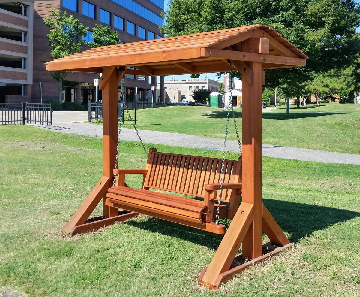 Bench Swing Set Options Large Bench With Swing Roof Mature