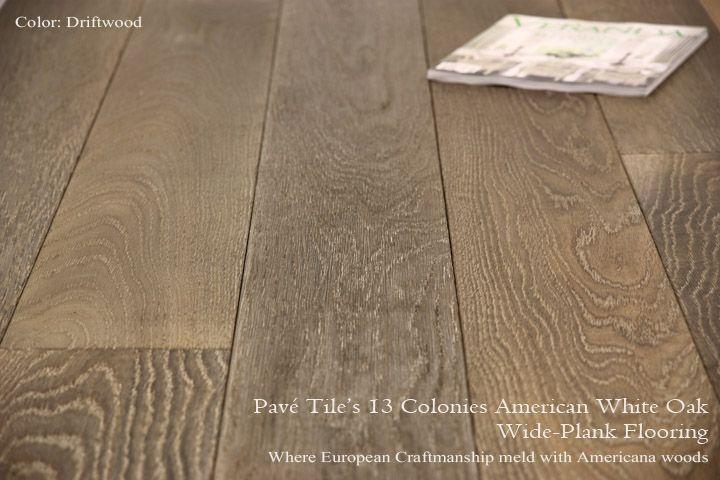 pav tile wood u0026 stone inc u003e reclaimed and aged engineered oak flooring 13 colonies wide plank american white oak flooring