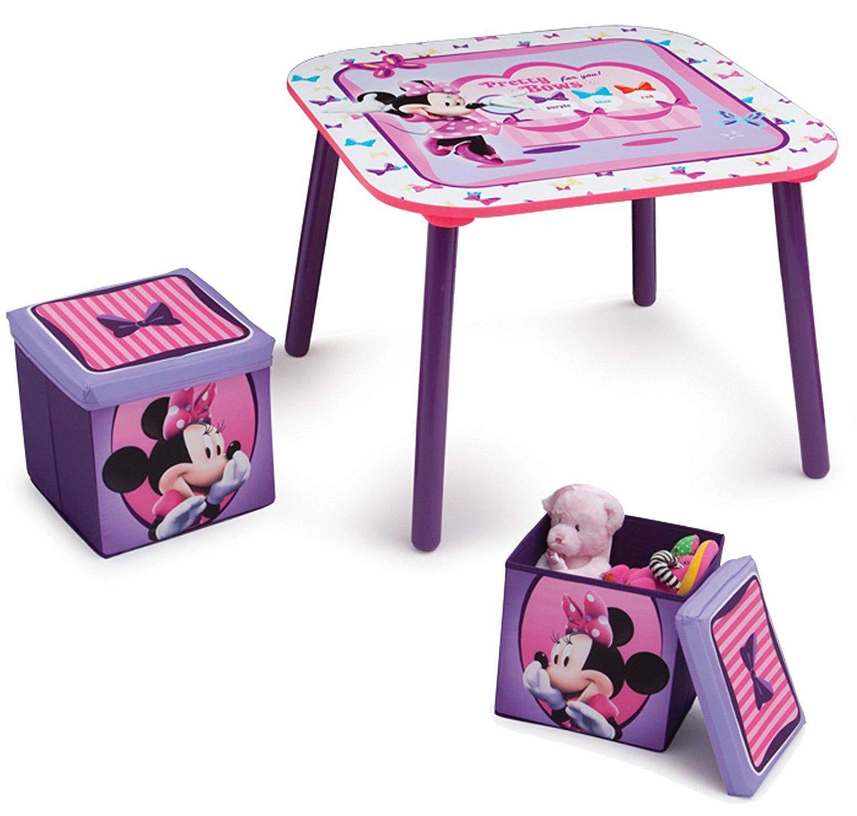 Minni Maus Tisch mit 2 Hocker Sitzgruppe Disney Minnie