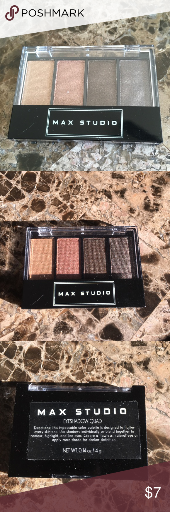 New Max Studio Eye Shadow Quad Palettes Brown (With images