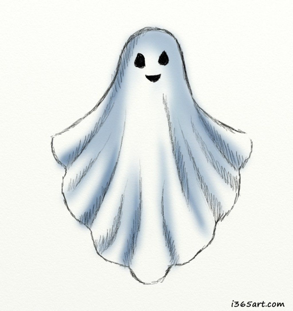 How To Draw A Ghost Halloween Drawings Halloween Pictures To Draw