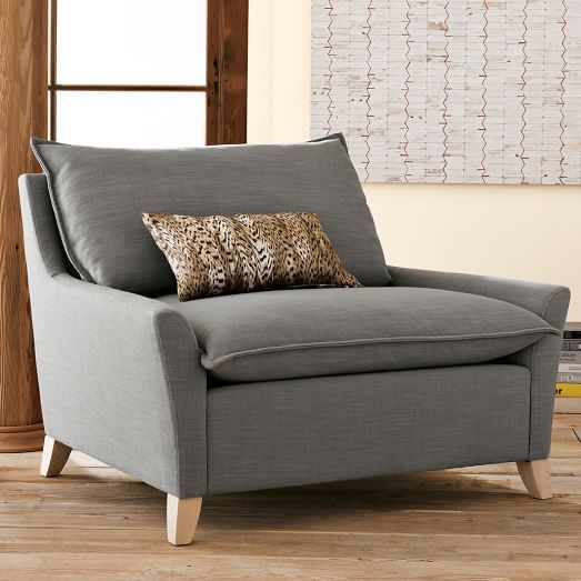 Lovely Bliss Down Filled Chair And A Half   Solids, West Elm