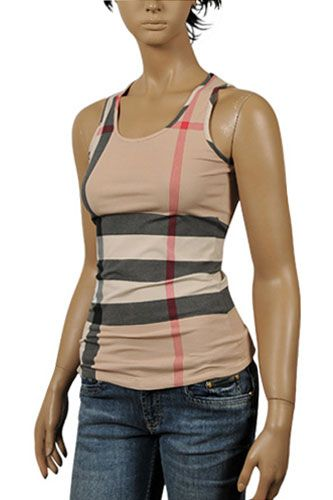c4cd092fe37f59 Womens Designer Clothes | BURBERRY Ladies Sleeveless Top #85 ...