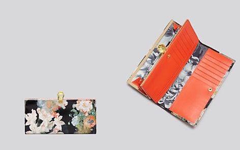 Ted Baker Wallet - Opulent Bloom Print Matinee Continental