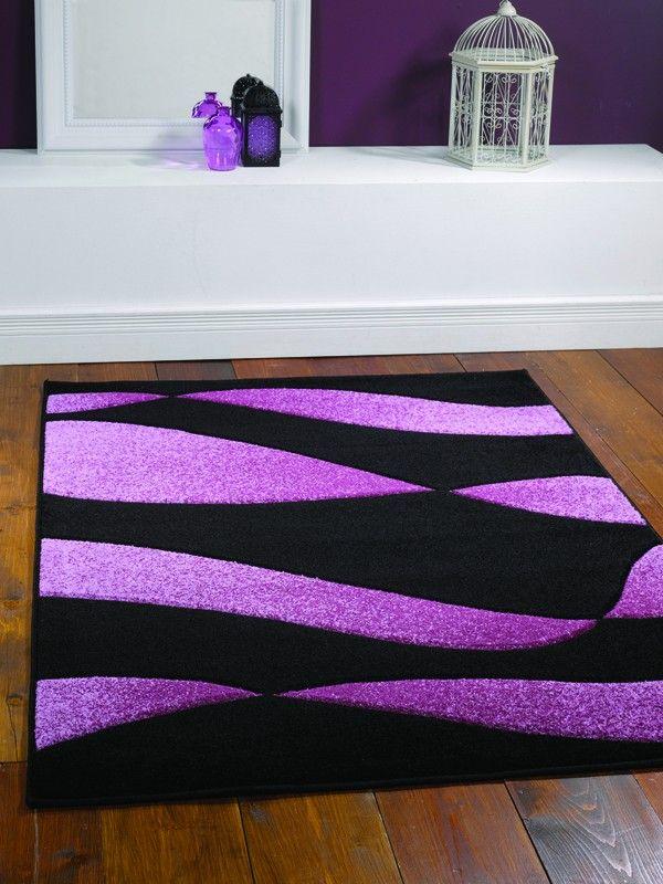 Orleans Organza Black Purple Rug