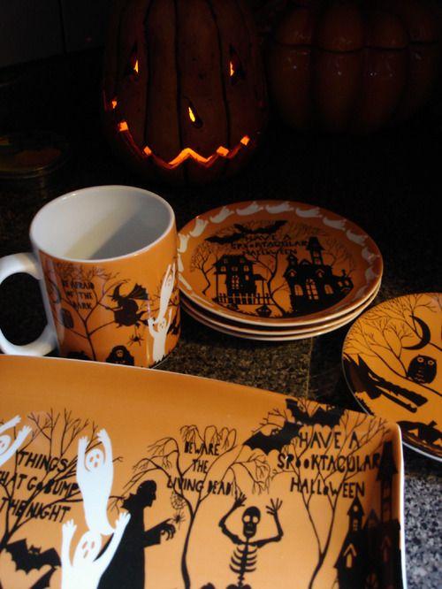 halloween dish set