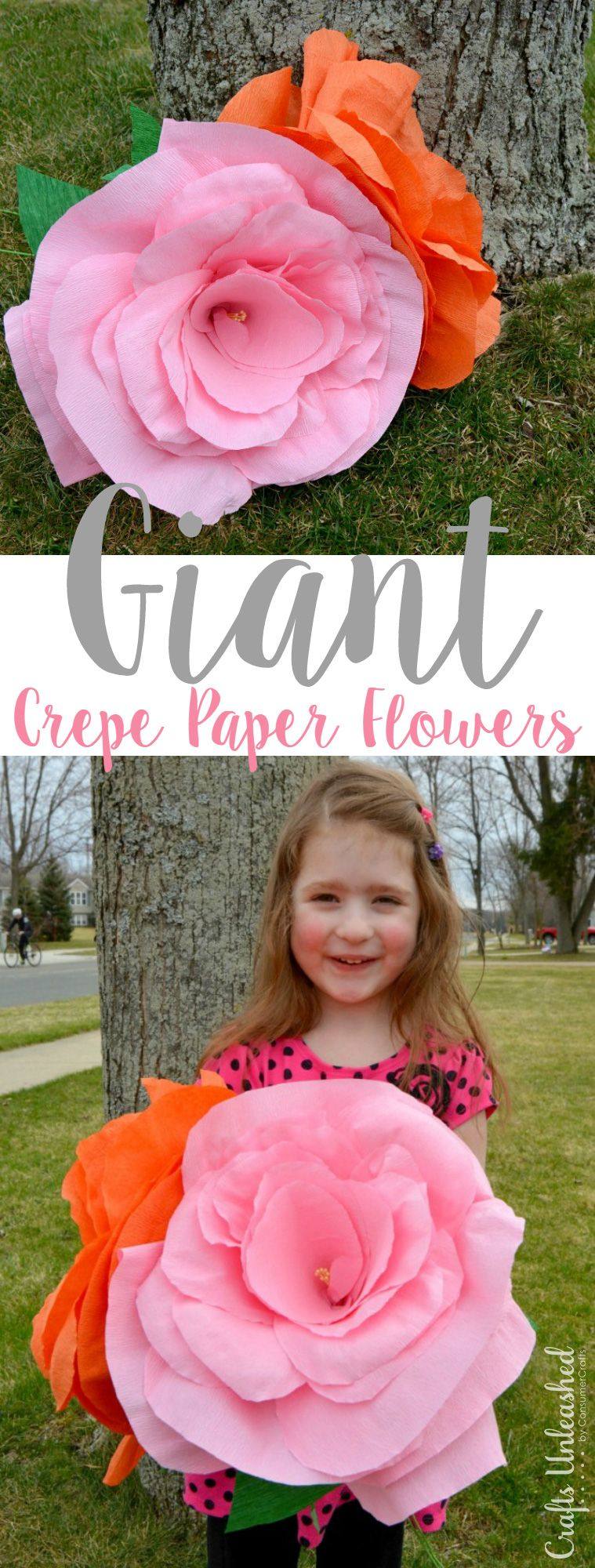 Crepe Paper Flowers Tutorial Giant Sized Crafts Unleashed