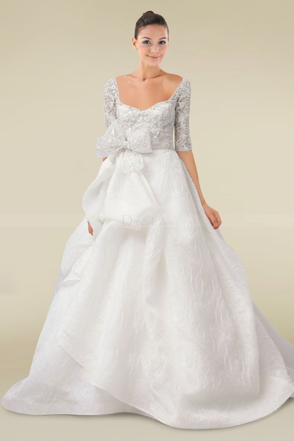 Not sure about the bow weddings pinterest bride dresses