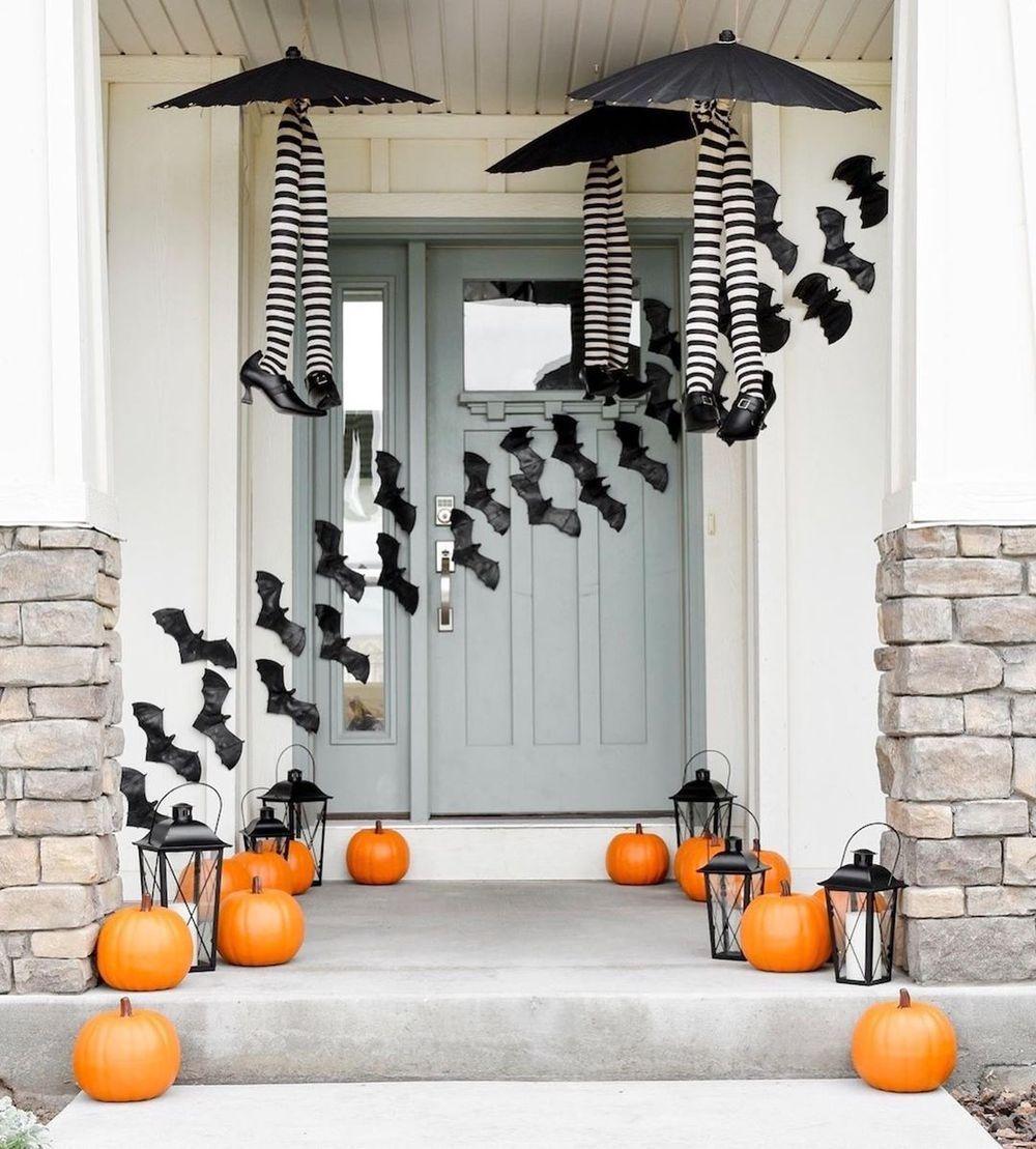 31 Halloween Front Porch Decor Ideas Halloween Front Porch Decor Halloween Front Door Decorations Halloween Porch