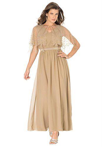 4e5d87580f Fashion Bug Women s Plus Size Capelet Jacket Dress www.fashionbug.us   PlusSize  FashionBug  Weddings