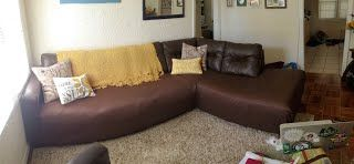 Diy Sofa Cover For Your Peeling Leather Sectional Blog