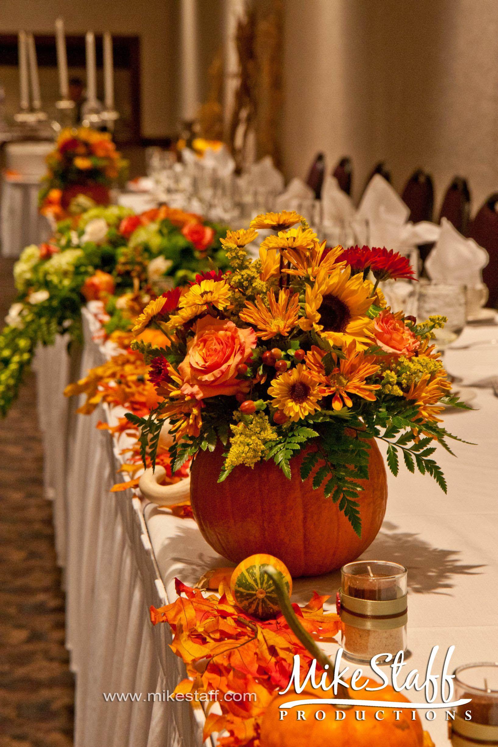 Wedding Reception Centerpieces Autumn Wedding Reception Pumpkin