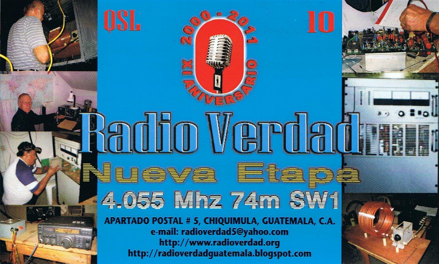 Según palabras de Édgar Amílcar Madrid Morales la celebración del 15º Aniversario de Radio Verdad, se llevará a cabo el día sábado 28 de febrero , comenzando a las 5 de la tarde, o sea 23 horas UTC...