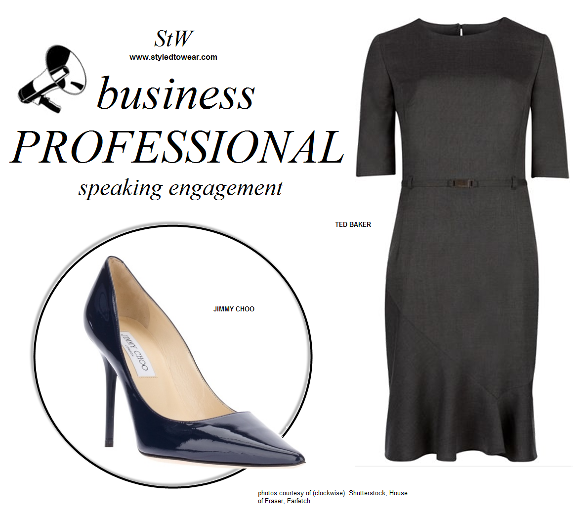 fe5b37fa688 Business professional dress attire for women participating in panel ...