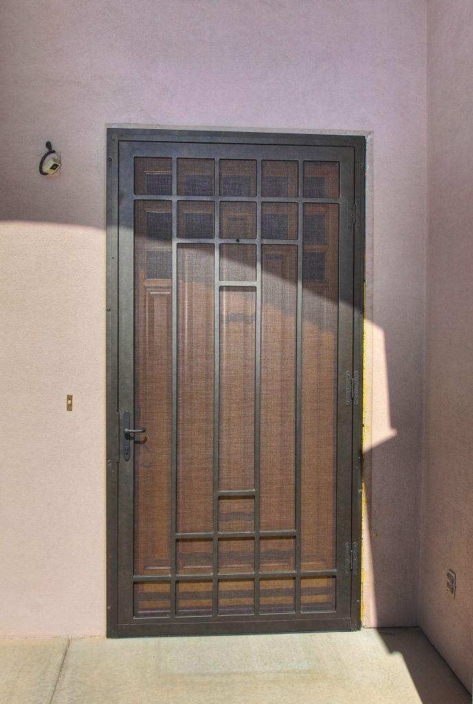 Custom Security Screen Door Security Screen Door Screen Door Metal Doors Design
