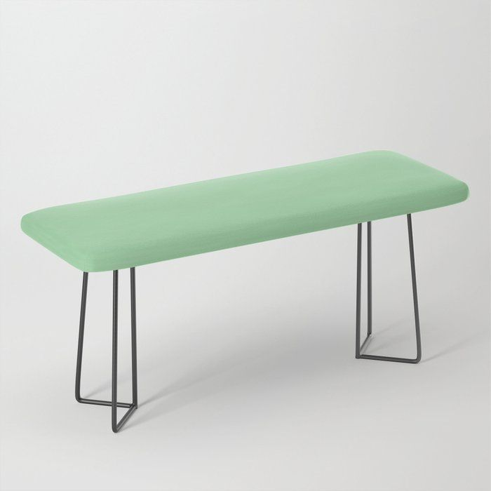 Bright Mint Green Solid Color - Pairs with Coloro Neo Mint 065-80-23 2020 Color of the Year Bench #2020coloroftheyear #2020colors #homedecor #2020trendingcolors