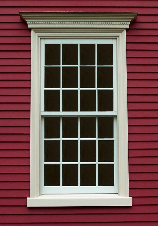 Window Frame Home Exterior Red Houses House Design