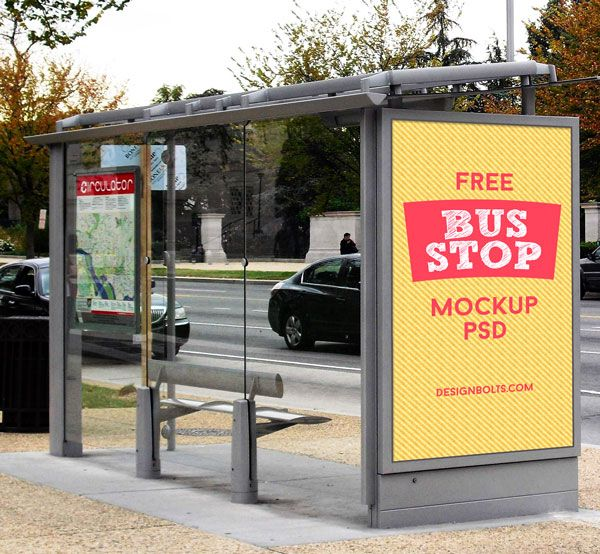 3 Free Hq Outdoor Advertising Bus Stop Mockup Psd Files Outdoor Advertising Vape Skin
