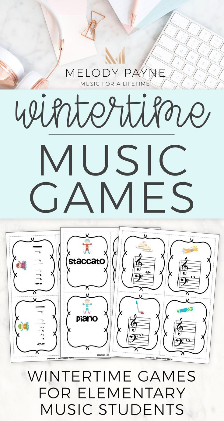 Let The Music Games Begin Winter Games For Elementary