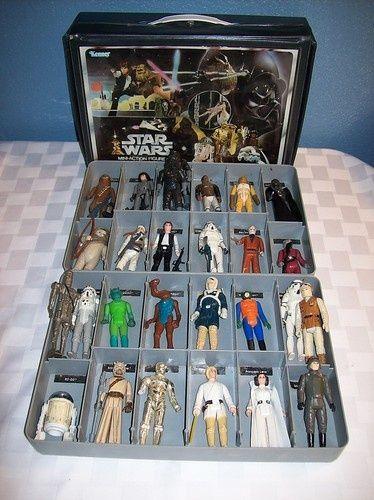 Vintage Star Wars Case And Figures Star Wars Action Figures Vintage Star Wars Star Wars Figures