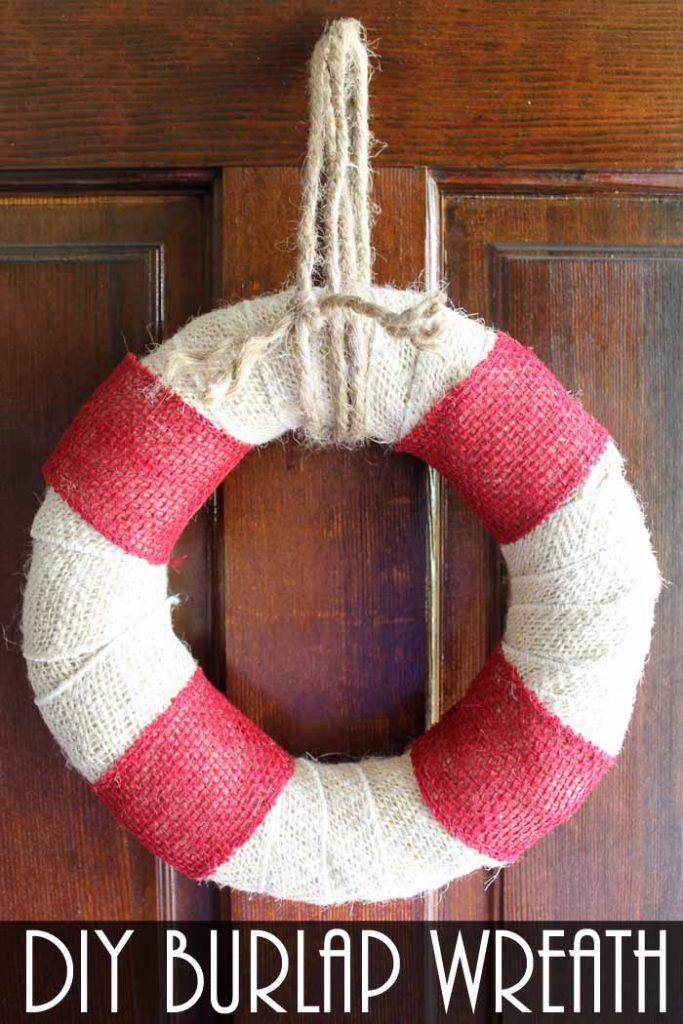 Photo of DIY Burlap Wreath: Beach Themed