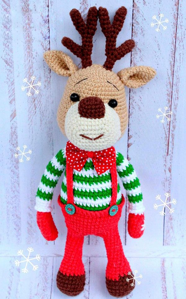 Christmas deer amigurumi pattern | Christmas deer, Amigurumi and ...