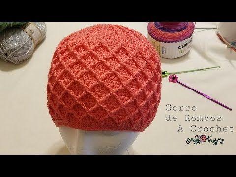 Gorro de Rombos a Crochet (ganchillo)Paso a Paso - YouTube | mile ...