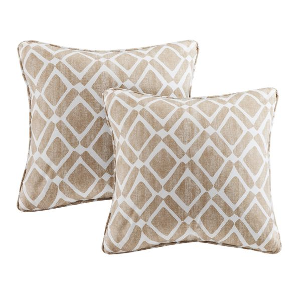Madison Park Ella Printed Tan 40inch Pillows Set Of 40 Overstock Best Madison Square Decorative Pillow