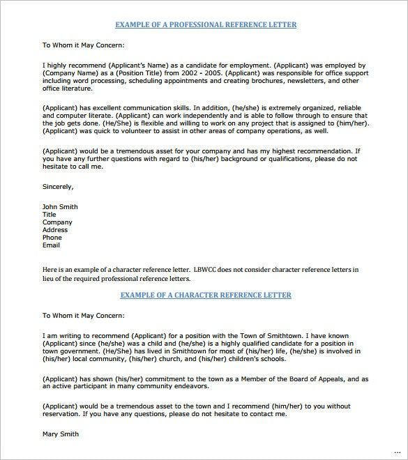 Sample Job Reference Letter Principal Recommendation From Employer