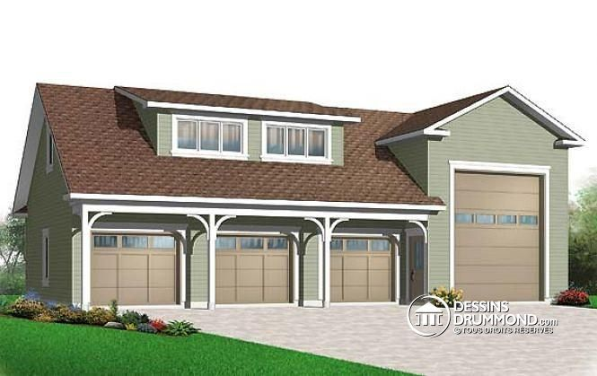Plan de maison no W3986 de dessinsdrummond Garage Pinterest