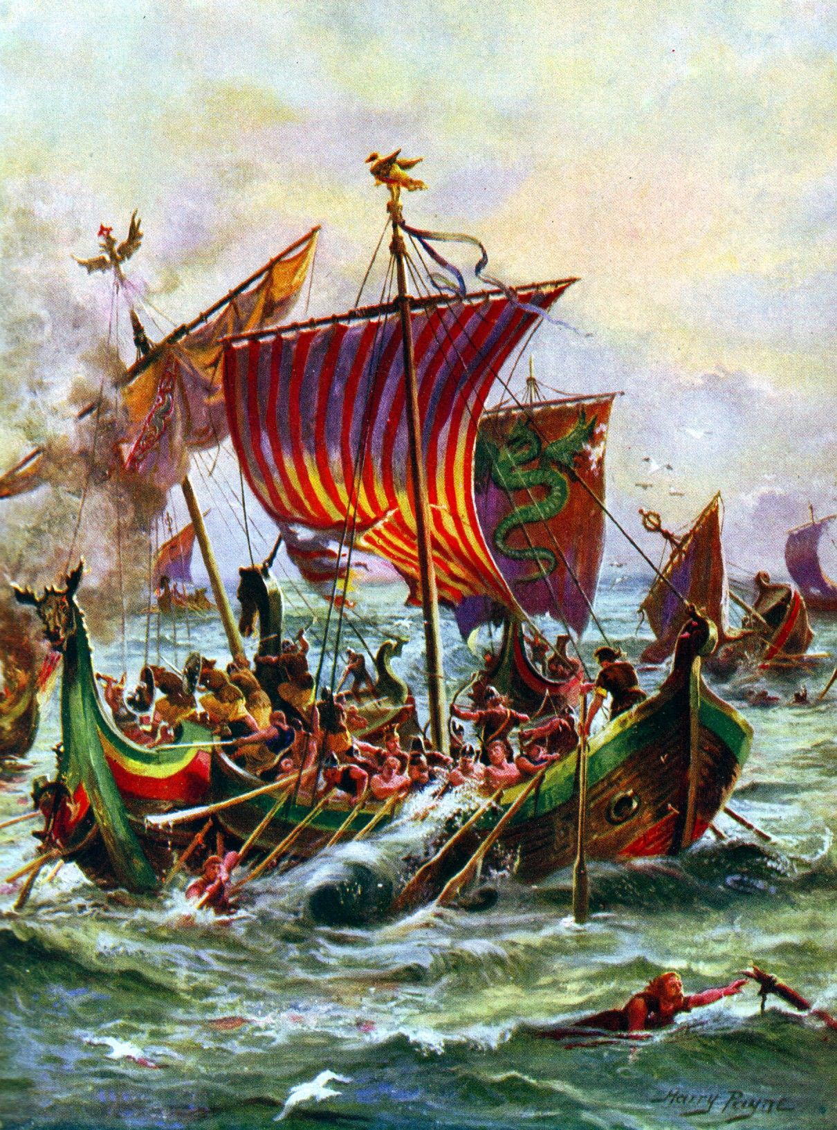 Alfred S Ships Fighting Marauding Vikings