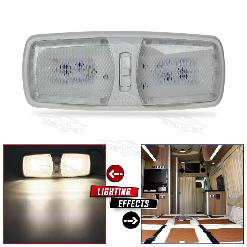 Rv Interior Led Ceiling Light Boat Camper Trailer Double Dome 12v 2 Modes Double Dome Modes Trailer Camper Ce Camper Parts Rv Interior Led Ceiling Lights